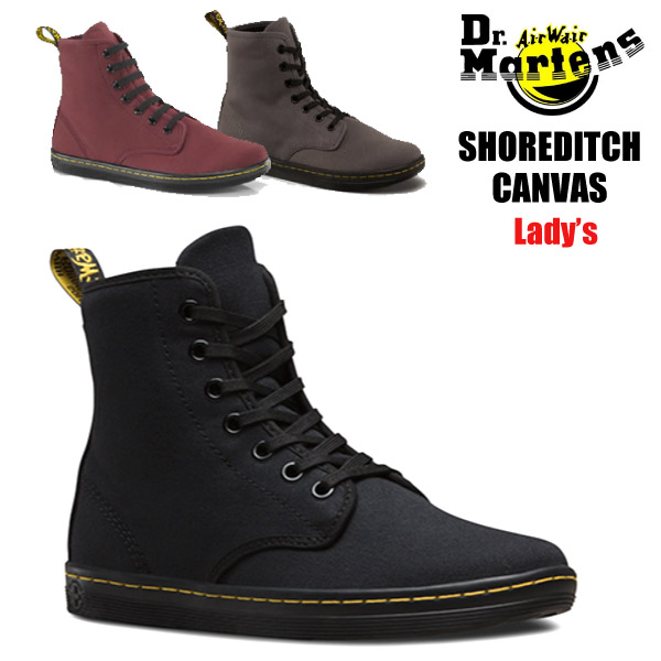 ������ ¨Ǽ �ɥ������ޡ����� Dr.Martens SHOREDITCH 7-EYE BOOT �ϥ����å� �����Х� �졼�����å� Woman's ���ˡ����� �֡��� ��� ( ������ ) ��ǥ������� ������ ��( R13524 )