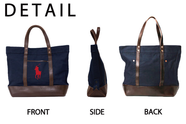 �ݥ� ���ե?��� ��� POLO Ralph Lauren MENS �ӥå��ݥˡ� �����Х� �쥶�� �ȡ��ȥХå� ELEVATED BIG PONY ZIP TOTE ���åץХå� �ӥå��ȡ��� �ޥ������Хå� A4������ �̳��� ��� ��ǥ����� ��˥��å��� (405512)