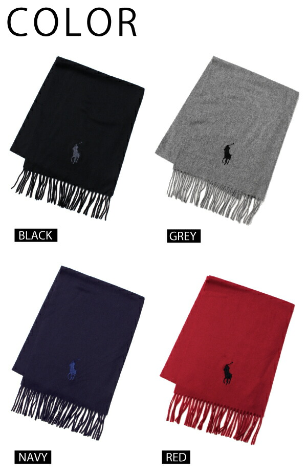 �ݥ� ���ե?��� ��� POLO Ralph Lauren MENS �ӥå��ݥˡ� �ɽ� ��०���� �ۿ����ޥե顼 Big Pony Embroidered Scarf ��С����֥� ���ȡ��� ��� ��ǥ����� ��˥��å�����6F0349��