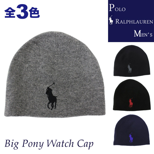 �ݥ� ���ե?��� ��� POLO Ralph Lauren MENS �ӥå��ݥˡ��ɽ� ���Υ����� �˥å� ��å�����å� ����å� �˥å�˹ Big Pony Watch Cap ��� ��ǥ����� ��˥��å���(6F0423)