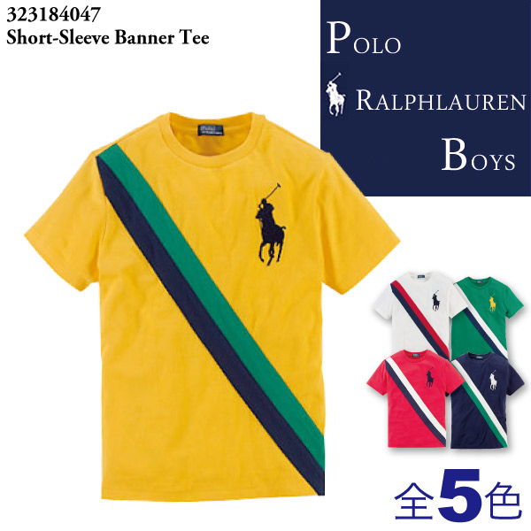 �ݥ� ���ե�`��� �ܩ`���� Polo Ralph Lauren BOYS �ӥå��ݥ˩`����T����� б��饤����ɫ