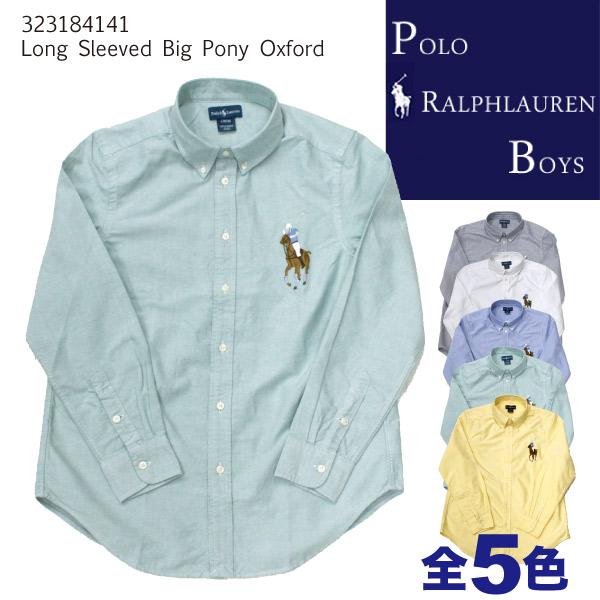 ���`�� ��OFF �ݥ� ���ե�`��� �ܩ`���� POLO Ralph Lauren BOYS Long-Sleeved Big Pony