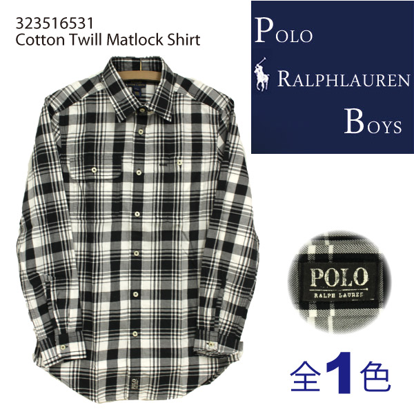 �ݥ� ���ե?��� �ܡ����� Polo Ralph Lauren BOYS POLO�͡����դ� �ͥ�����å� ŵ ����� Cotton Twill Matlock Shirt���ܥ�������� �ͥ륷��� ��� ��ǥ����� ��˥��å��� (323516531)