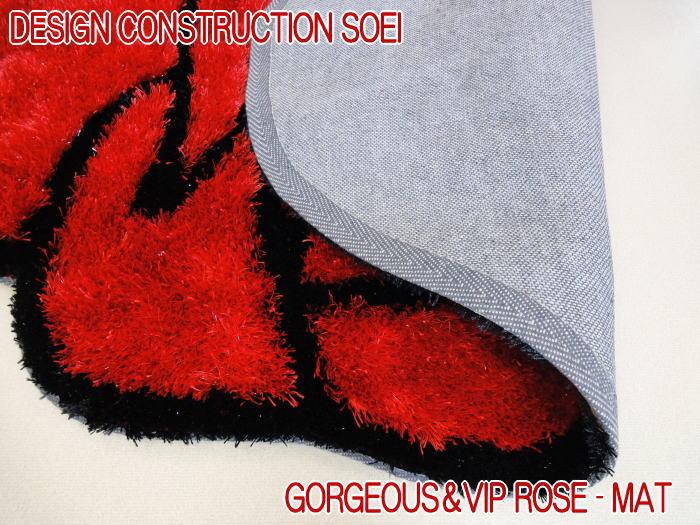 ゴージャスかつVIPラグ ローズシャギーマットが登場 120×120cm 玄関マット ベットサイドマット リビング 寝室 子ども部屋のアクセントマットとして存在感抜群 サラサラ肌触りで清潔感満点のラグ カーペット