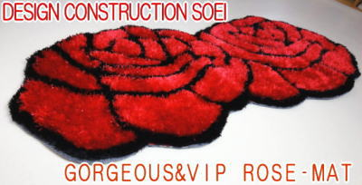 Rose shaggy 70x140 red