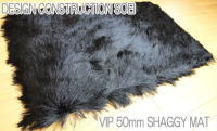 It is a sense of quality perfect score in long pile shaggy beige doorstep 50mm VIP
