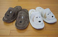 Dog cat rabbit pretty good-quality slippers 380 yen ...