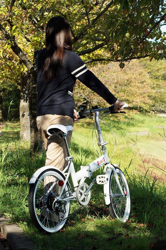 新生活  送料無料 自転車 折りたたみ自転車 自転車 折りたたみ 20インチ 軽量 フレーム 小型自転車 折畳 ダイエット  スポーツ アウトドア メンズ レディース サーモス水筒持参で運動 健康 美容 通勤 通学 レジャー ビジネス シンプル かっこいい 02P01Oct16 数量限定 送料無料 折りたたんで電車で移動できる!移動費削減!