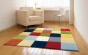 ホットカジュアル ☆ pop mosaic rectangle デザインラグ 150 * 150 cm