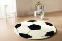 BABY &KIDS lag ☆ soccer boys & girls to dream! サッカーボールデザインラグ 150 * 150 cm Circular