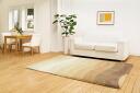 High-quality, cool rug ナチュラルテクスチャー ☆ ナチュラルグラデーションシャギーラグ 140 * 200 cm