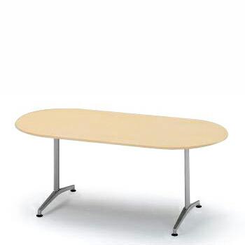 会議用テーブル DEシリーズ/180×75cm両アール型【自社便/開梱・設置付】