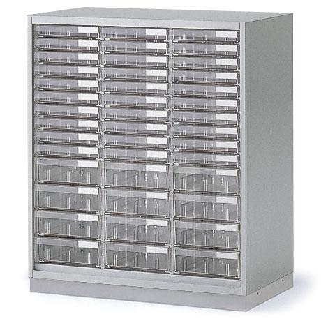 シンラインキャビネット H890タイプ/クリスタルトレイ型 A4縦浅型30・A4縦深型12/ベース付/下段専用【自社便/開梱・設置付】