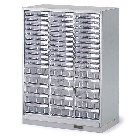 シンラインキャビネット H1040/クリスタルトレイ型 A4縦浅型33・A4縦深型15/コンセントベース/下段専用【自社便/開梱・設置付】