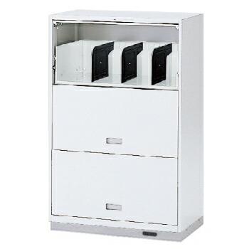 (シンラインキャビネット) H1200タイプ/扉型棚式/コンセントベース付/下段専用【自社便/開梱・設置付】