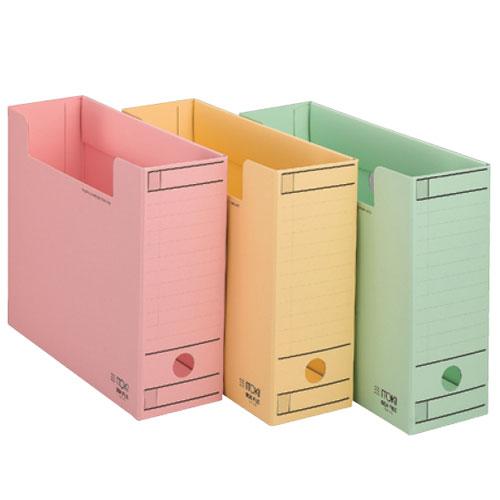 ワンタッチ組立式ボックスファイル/フタなし/B4、データ用【10冊セット】