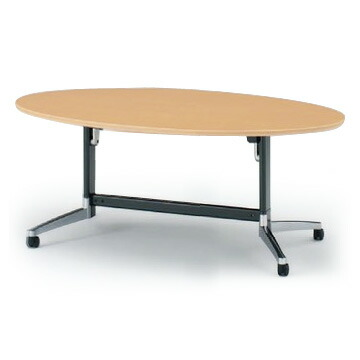 テーブル/DBシリーズ 120°脚/楕円型天板折りたたみタイプ W180×D100【自社便/開梱・設置付】