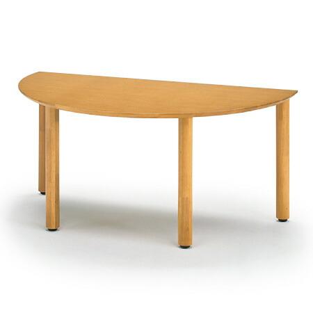 リコットシリーズ[C-02]/テーブル 半円型 W160×D90cm【自社便/開梱・設置付】