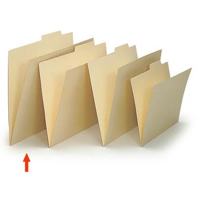 上見出し個別フォルダー データ用/紙質強化タイプ【50枚セット】