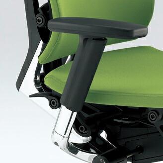 Spina(スピーナチェア)専用オプション/アジャスタブル肘[ADJ肘](アルミミラー)/左右セット【自社便/開梱・設置付】