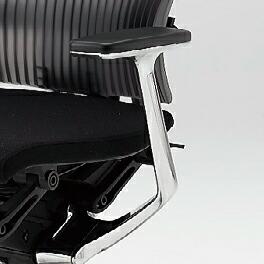 Spina(スピーナチェア)専用オプション/T型肘(アルミミラー)/左右セット【自社便/開梱・設置付】