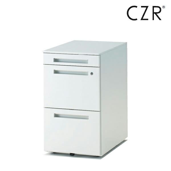 CZRシリーズ/ワゴン/A4・2段 深型ペントレイ付 D59.3/キャスターロック付【自社便/開梱・設置付】