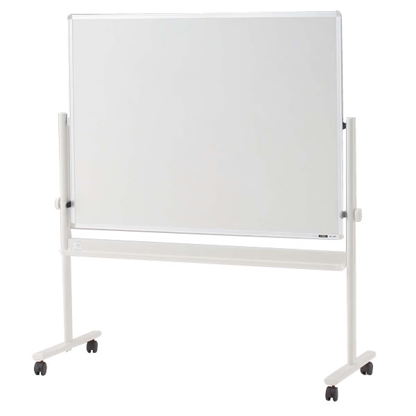脚付き ホーロー 回転型ホワイトボード(両面ホワイト)ロータイプ/外寸:W134×H148cm/板面:W120×H90cm 【自社便/開梱・設置付】