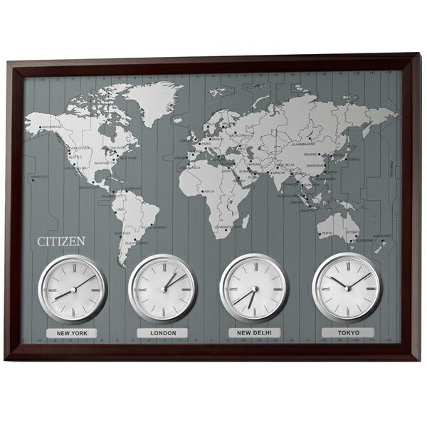 CITIZEN オフィス向け 掛時計 ワールドタイムN