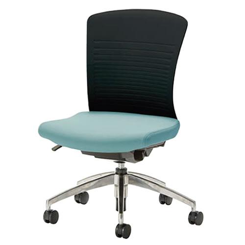 オフィスチェアー オフィスチェア 椅子 WITチェア アルミ脚 背パット無 WTS-50