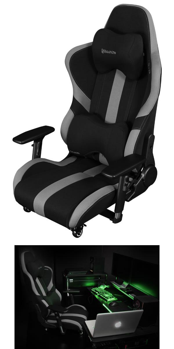 バウヒュッテ ゲーミング座椅子 GAMING FLOOR CHAIR ブラック Bauhutte LOC-950RR-BK