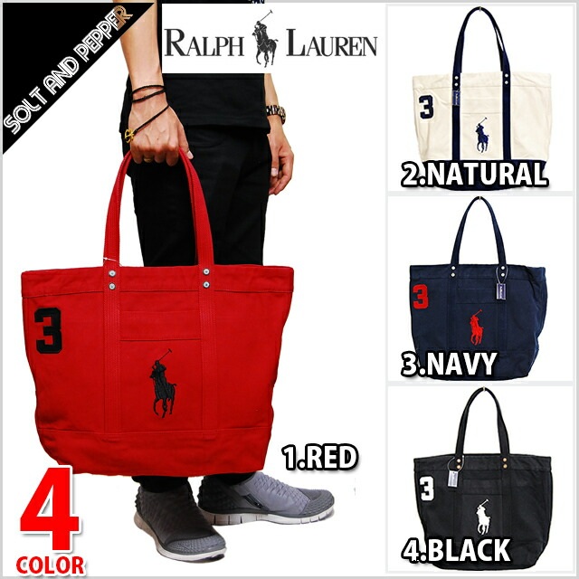 SOLT AND PEPPER | Rakuten Global Market: POLO RALPH LAUREN �ݥ���ե��� BIG PONY ZIP TOTE BAG back canvas Thoth Boston RED red WHITE white NAVY navy ...