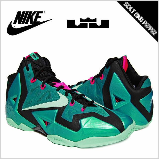 11 NIKE nike LEBRON XI Revlon SOUTH BEACH LW CMFT TURQUOISE BLACK PINK turquoise black pink bluish green black peach south beach men man shoes sneakers ...
