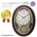 Citizen citizen rhythm radio time signal wall clock melody incorporation mechanism clock Small world June 4MN526RH06apap8