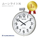 Rhythm RHYTHM clock LED internal lighting dated outdoor radio clock Moonlight N 4MY8112RH19
