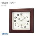 SEIKO Seiko clock radio clock wood frame RX208B clock