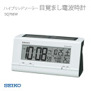 SEIKO Seiko alarm clock radio clock thermometer with full auto-calendar features with hybrid solar with SQ766W clock