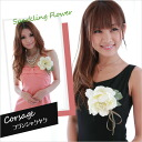 """★ to (except Hokkaido, Okinawa and remote islands!) ★ graduation and entrance ceremony & formal and perfect! Silk flower corsage hair accessory diameter 13 cm """"フランシャクヤク"""" fs3gm"""
