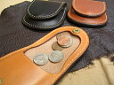 In the giveaway! The memorabilia! Hand-made leather accessories Nume leather coin purse DAN-C01 round coin case fs3gm