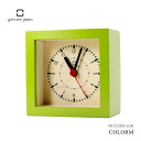It is good to Yamato industrial arts present! Colorful mini-clock COLORM light green alarm clock table clock YK12-005-LGR