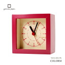 It is good to Yamato industrial arts present! Colorful mini-clock COLORM pink alarm clock table clock YK12-005-PK