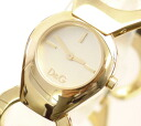 D & G TIME d & g FLAT HEAD ladies SS gold belt watch DW0171 10P01Sep1310P13Sep1310P25Sep13