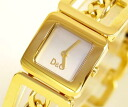 D&G TIME ドルガバ CONFIDENTIAL Lady's SS gold belt watch DW0236 05P14Nov13fs3gm