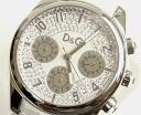 D&G TIME ドルガバ SANDPIPER chronograph clock DW0257 white 10P17May13