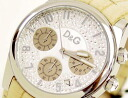 D & G TIME d & g SANDPIPER Chronograph Watch DW0258 ivory