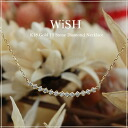 """K18 gold diamond necklace """"13stone Wish"""" necklace necklace ladies women's diamond ladies 18 k 18 gold gold pendant store gift giveaway"""