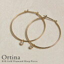 "One lady's jewelry diamond mail order gift present for K18 gold diamond hoop pierced earrings ""Ortina"" 18k 18-karat gold gold hoop pierced earrings pierce women"