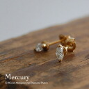 "K18 gold Marquise diamond earrings ""Mercury"" 18 k Gold Diamond pierce earrings gold for women women's jewelry grain Stud Earrings store gift giveaway 10P10Nov13"