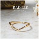 "K18 gold V line ring ""RADiLLE' ring ring gold K18 18 K 18 k gold ring ladies women's jewelry gift present size 10P30Nov13"