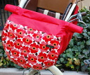 A high background type: Activeness NO .1! Car seat cover (I pick up a child the cover for exclusive use of the bicycle) for floral design X red bicycles