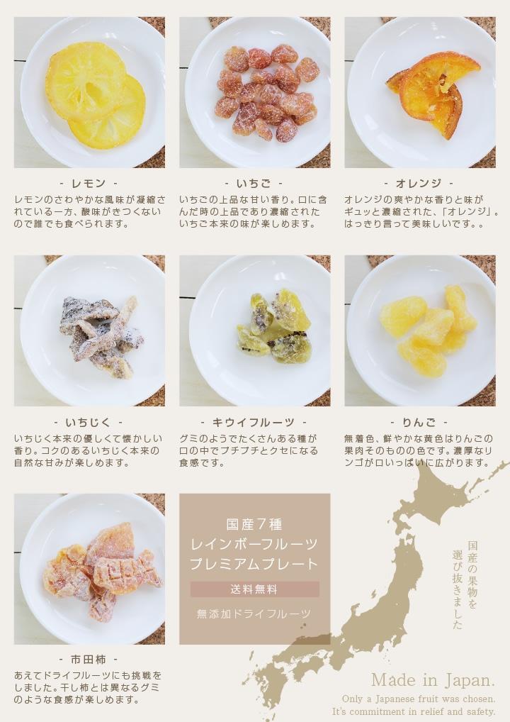 国産キウイ・レモン・いちご・りんご・いちじく ドライフルーツ食べ比べセット